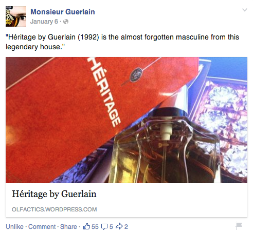 From Monsieur Guerlain's Facebook page