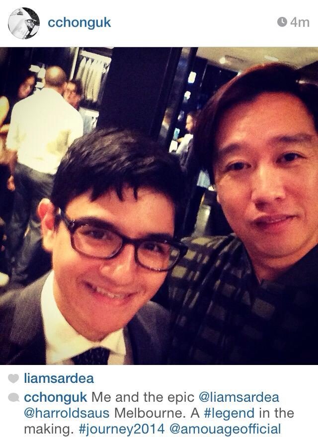 From Chistopher Chong's Instagram. He is a gentleman.