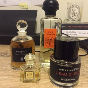 A few months ago on Twitter I was asked to pick 4 scents to describe myself. Four?!